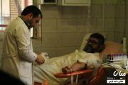 اهدای خون حاج آقا حامدی و اعضای دفتر امام جمعه شهر میانه + گزارش تصویری